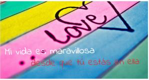 Dar uso a la palabra amor es una bendición de la vida