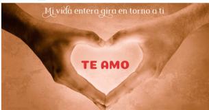 Un mensaje de amor que procede del corazón para enviar una bella postal cuando estás enamorado.