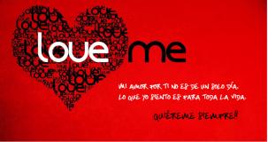 Amame cada San Valentín de tu vida.