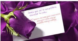 El color púrpura como símbolo de la eternidad será testigo de las mejores frases de amor que hoy te dedico.