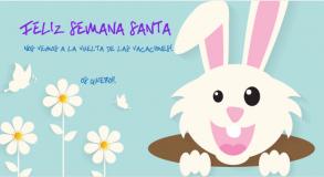 Un conejo de pascua para hacer postales de semana santa