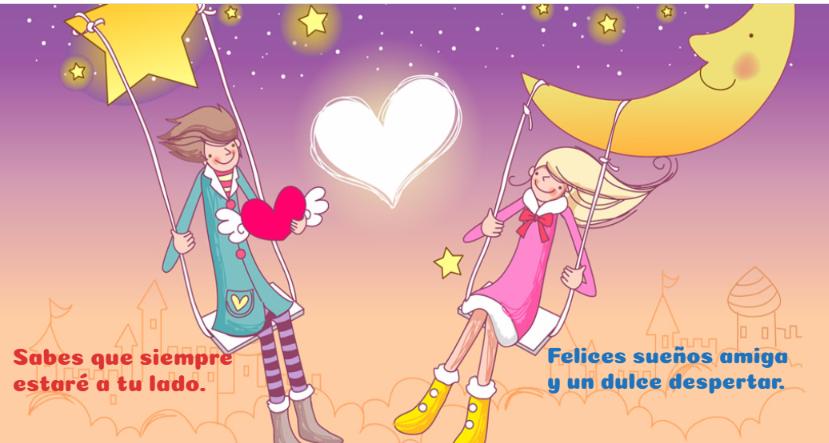 Imagen con linda noche para crear postales a los amigos.