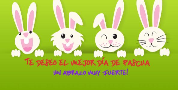 conejos de pascua para tus postales de semana santa