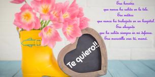 Postales con dedicatoria para el día de la madre.