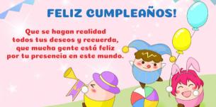 Preciosas postales de cumpleaños para niños.