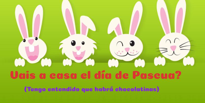 postales con conejos de Pascua