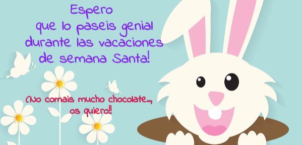 postales de semana santa con conejo de pascua