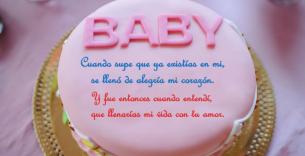 Postales con mensaje personalizado de bienvenido bebé.