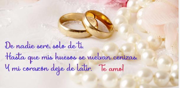 Imagen anillos de matrimonio para hacer postales.