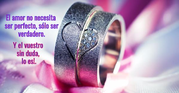 Imagen de alianzas para dedicatorias de boda.