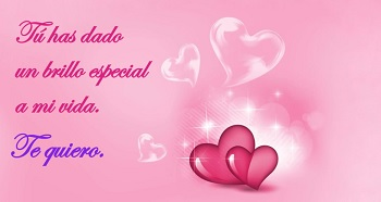Postales románticas con frases para enamorados.