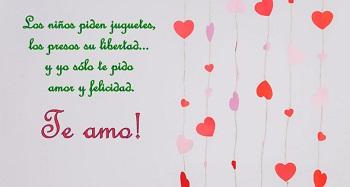 Frases Para Un Amor En Postales Romanticas Con Corazones