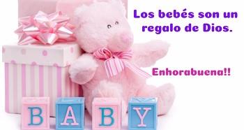 Niñas Recién Nacidas Felicitar Con Postales Color Rosa