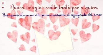 Crear postales gratis con imágenes de corazones.