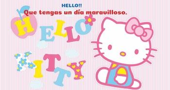 Hacer postales con imágenes de Hello Kitty.