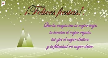 Imagen nevada en color verde para hacer postales de navidad - Hacer una postal de navidad ...