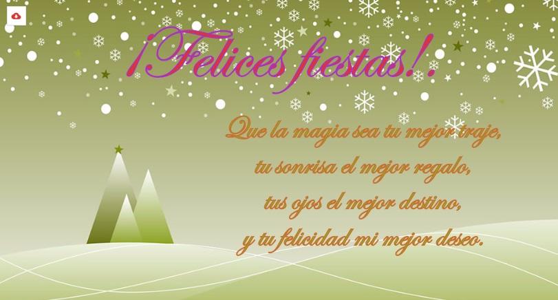 Imagen nevada en color verde para hacer postales de navidad - Hacer postales navidad ...