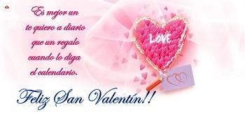 Enviar mensajes San Valentin bonitos.